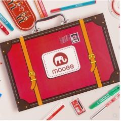 小象MOBEE儿童学习绘画套装蜡笔水彩画笔工具小学生开学礼包文具礼盒