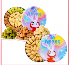 AKOKO云顶小花咖啡味曲奇饼干 五彩兔款
