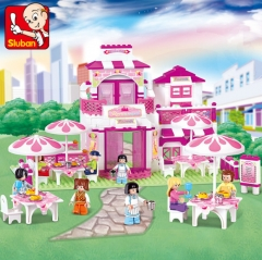 小鲁班积木M38-B0150-粉色梦想-浪漫餐厅