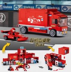 小鲁班积木M38-B0375-方程式赛车(新)-F1赛车组