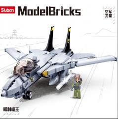 小鲁班积木M38-B0755-F14D熊猫战斗机