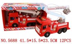 Lefei车模5688-灯光音乐讲故事-长臂喷水消防车