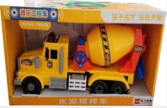 Lefei车模9082-音乐工程车-水泥搅拌车