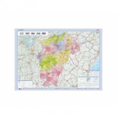 2018版 1:93万江西省地图(膜图)1.07*0.76m